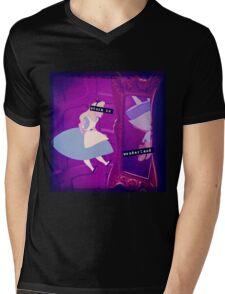Stuck in Wonderland Mens V-Neck T-Shirt