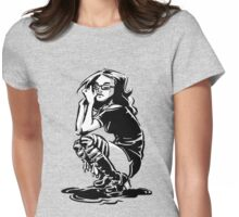 Lady Crow Womens Fitted T-Shirt