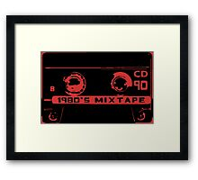 1980's mixtape Framed Print