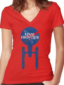 Final Frontier Women's Fitted V-Neck T-Shirt