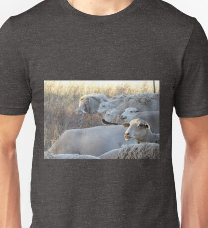 Riding on the Sheeps Back! An Australian Well Known Saying. Unisex T-Shirt