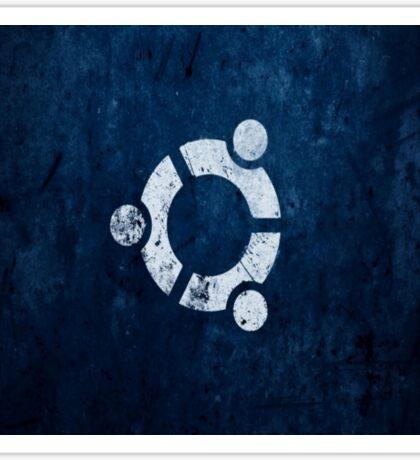 Ubuntu Blue Sticker
