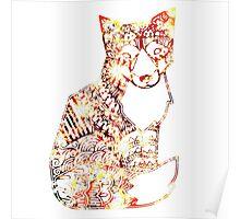 Fractal Fox Poster