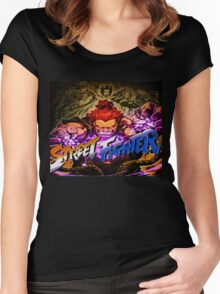 Street Fighter Master Collections Women's Fitted Scoop T-Shirt