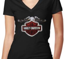 Harley D Women's Fitted V-Neck T-Shirt