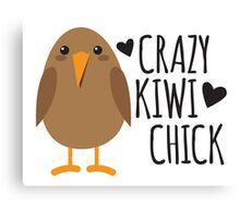 CRAZY kiwi chick Canvas Print