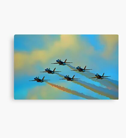 Beautiful Blue Angels Art Canvas Print