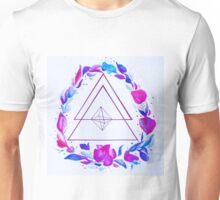 Geometric Floral Wreath Unisex T-Shirt