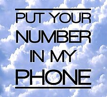 put your number in my phone by vlemieux3