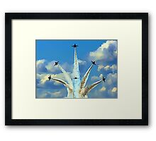 Aerial Acrobatics by the Blue Angels Framed Print