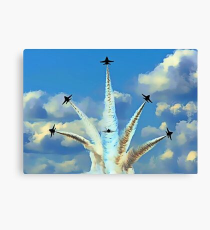 Aerial Acrobatics by the Blue Angels Canvas Print
