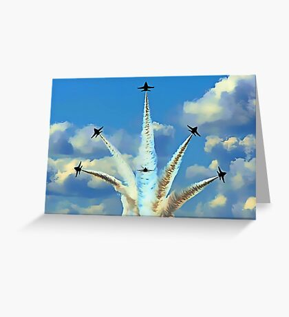Aerial Acrobatics by the Blue Angels Greeting Card