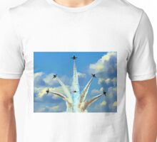 Aerial Acrobatics by the Blue Angels Unisex T-Shirt