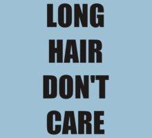 Long Hair Don't Care T-Shirts Kids Tee