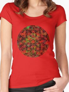Flower Of Life  Women's Fitted Scoop T-Shirt