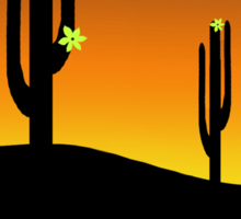 Sunset and Saguaro Cactus Flowers  Sticker