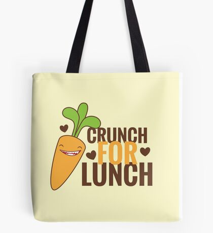 CRUNCH FOR LUNCH happy carrot Tote Bag
