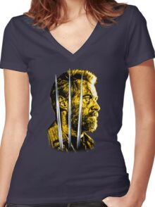 Logan 2017 (Wolverine Bust) Women's Fitted V-Neck T-Shirt