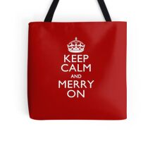 Keep Calm and Merry on Tote Bag