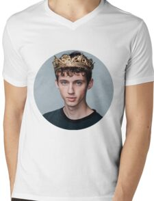 Troye Sivan Crown Cricle Blue Mens V-Neck T-Shirt
