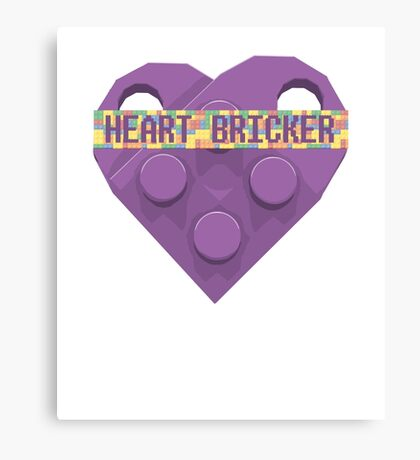 Valentines Day Toy Brick Heart Valentines Charm For Lavender Canvas Print