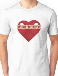 Valentines Day Toy Brick Heart Valentines Charm For Boys Red Unisex T-Shirt
