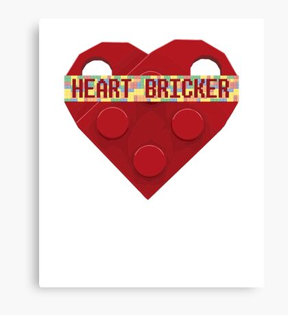 Valentines Day Toy Brick Heart Valentines Charm For Boys Red Canvas Print