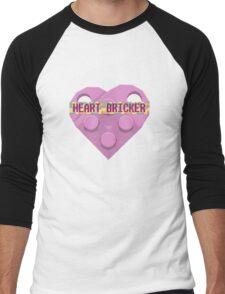 Valentines Day Toy Brick Heart Valentines Charm For Girls Pink Men's Baseball ¾ T-Shirt
