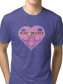 Valentines Day Toy Brick Heart Valentines Charm For Girls Pink Tri-blend T-Shirt