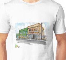Sketch of Fidel's cafe on Cuba street, Wellington, New Zealand  Unisex T-Shirt