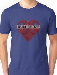 Valentines Day Toy Brick Heart Valentines Charm For Boys Dark Red Unisex T-Shirt