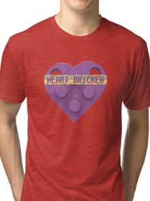 Valentines Day Toy Brick Heart Valentines Charm For Lavender Tri-blend T-Shirt