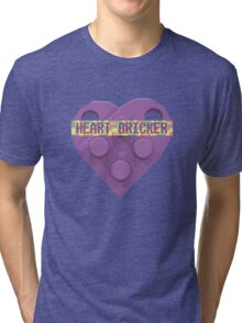 Valentines Day Toy Brick Heart Valentines Charm For Lavender Tri-blend T-Shirt