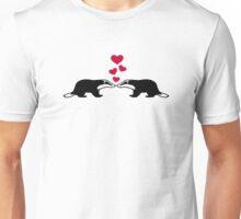 Badger love hearts Unisex T-Shirt
