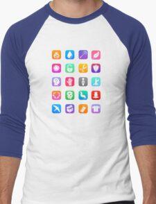 Potter Spell Icons Men's Baseball ¾ T-Shirt