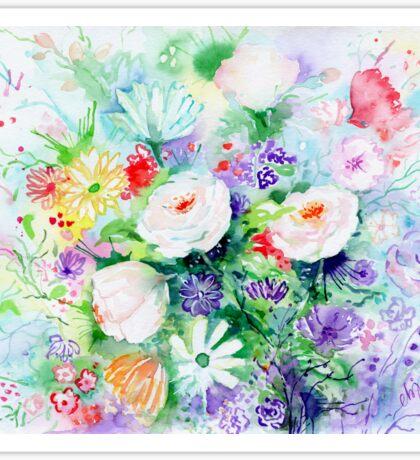Watercolor Good Mood Flowers Sticker