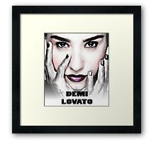 Demi Lovato Face Framed Print