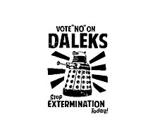 Doctor Who & Daleks Photographic Print