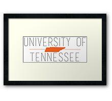 university of tennessee Framed Print