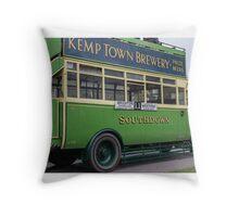A vintage Southdown bus Throw Pillow