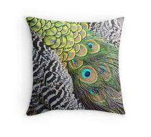 Peacock Patterns Throw Pillow