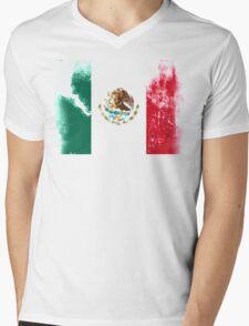 Flag of Mexico Mens V-Neck T-Shirt