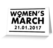 Women's March On Washington D.C Greeting Card