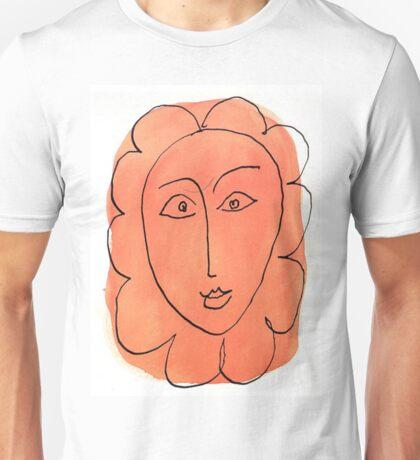 matisse face flower sketch Unisex T-Shirt