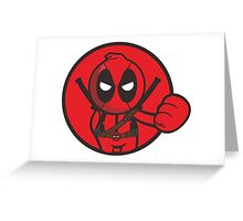 Deadpool Boxing Greeting Card