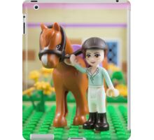 Mia with her horse iPad Case/Skin