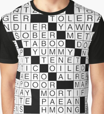 Crossword Graphic T-Shirt