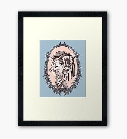 lady goat Framed Print