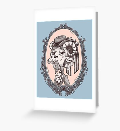 lady goat Greeting Card