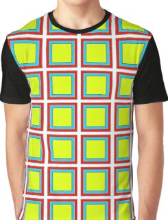 .Pattern F-1. .11% Checkerboard Tile - White. Graphic T-Shirt